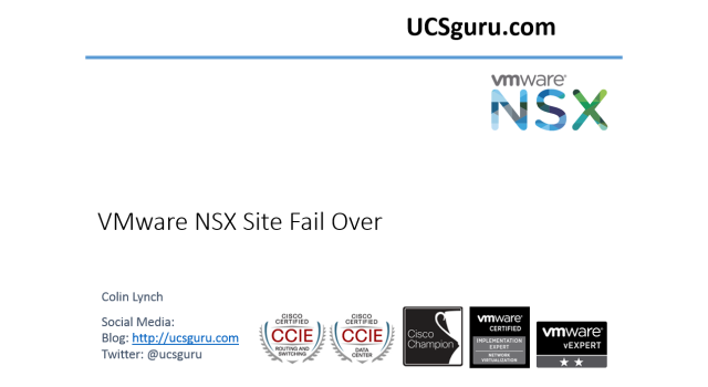 VMware NSX-V Cross-VC Failover | UCSguru com